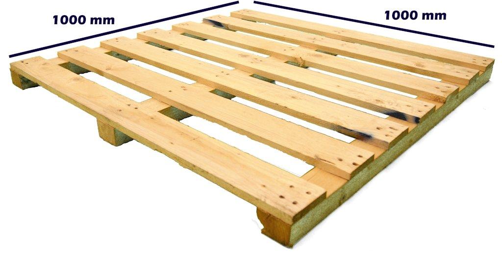 Otros palets de madera palet 1000 x 1000 dos entradas - Cuanto vale un palet ...
