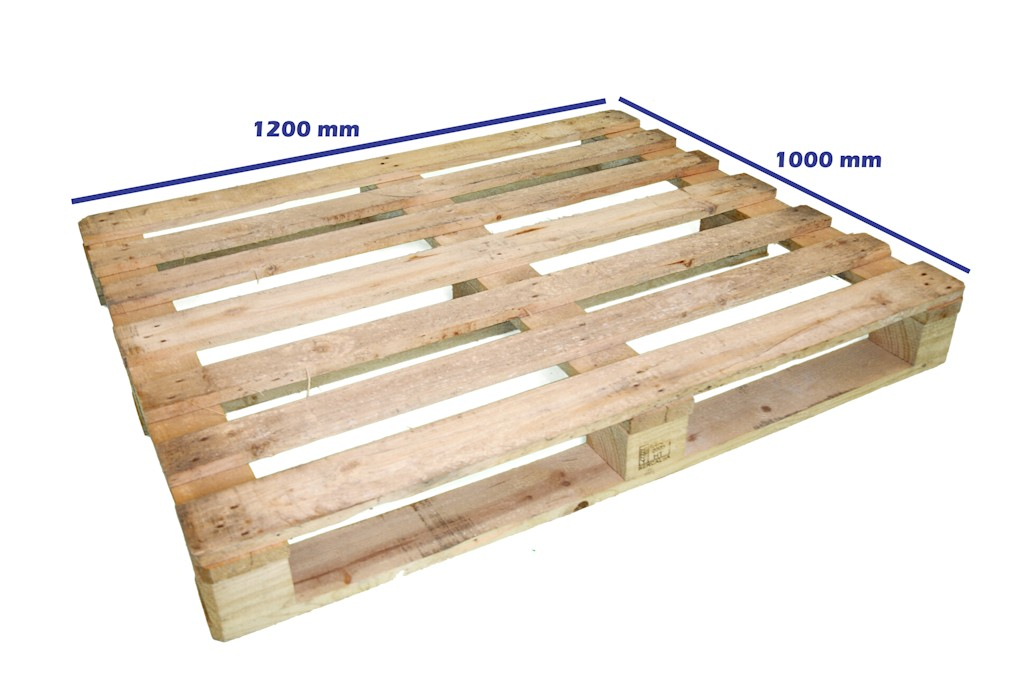 Palets de madera 1200 x 1000 palet 1200 x 1000 fuerte for Medidas de palets de madera