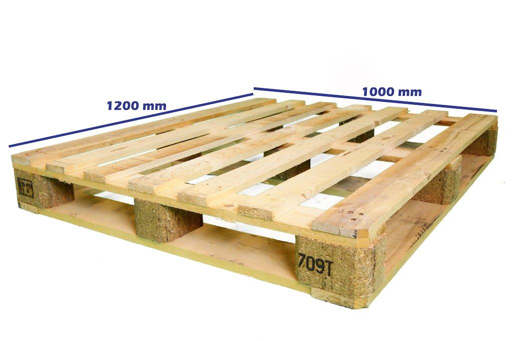 Palets exportaci n nimf 15 palet 1200 x 1000 fuerte perimetral reciclado - Cuanto vale un palet ...