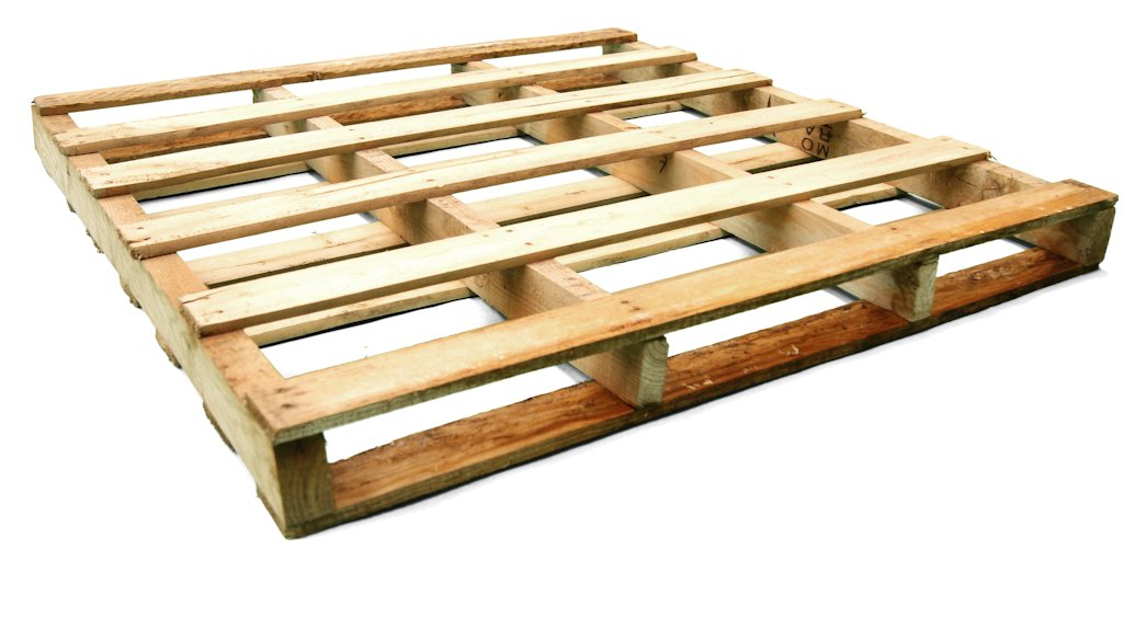 Otros palets de madera palet 1000 x 1000 dos entradas for Medidas de palets de madera
