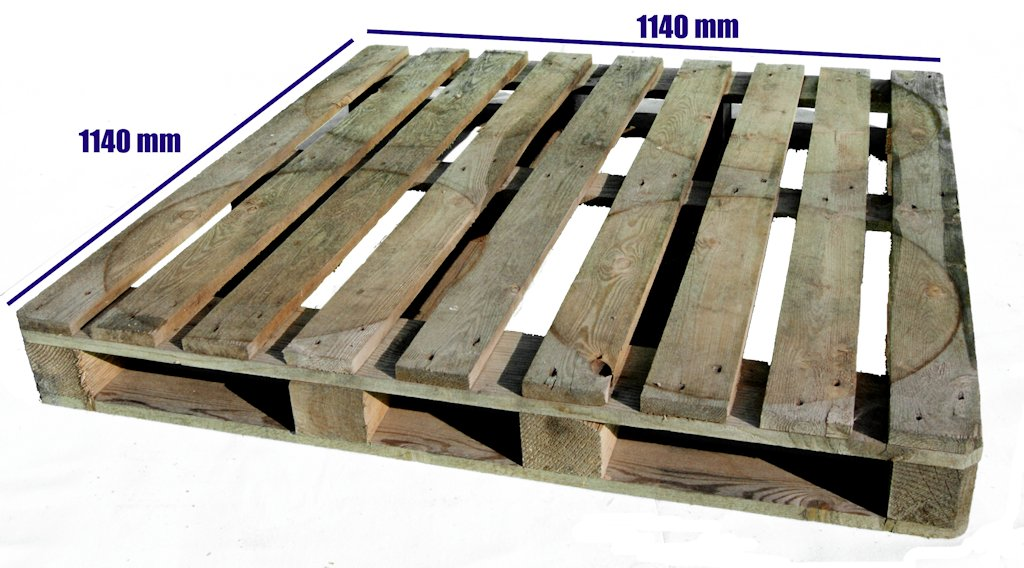 Otros Palets de Madera : Palet 1140 x 1140 Reciclado